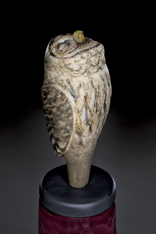 """Owl Spirit Jar"""