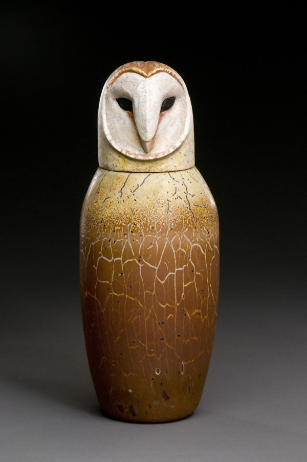 """Barn Owl Spirit Jar"""