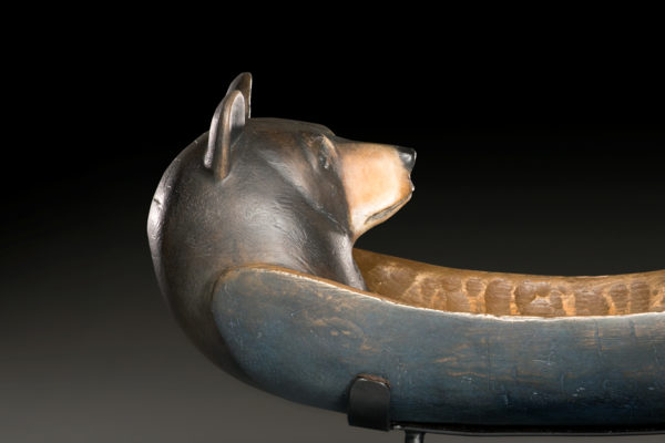 """Bear Wolf Spirit Canoe"""