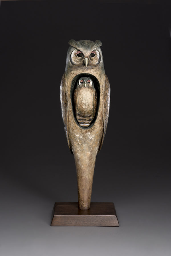 """""""Great Eagle Owl Spirit"""" Foundry Proof"""