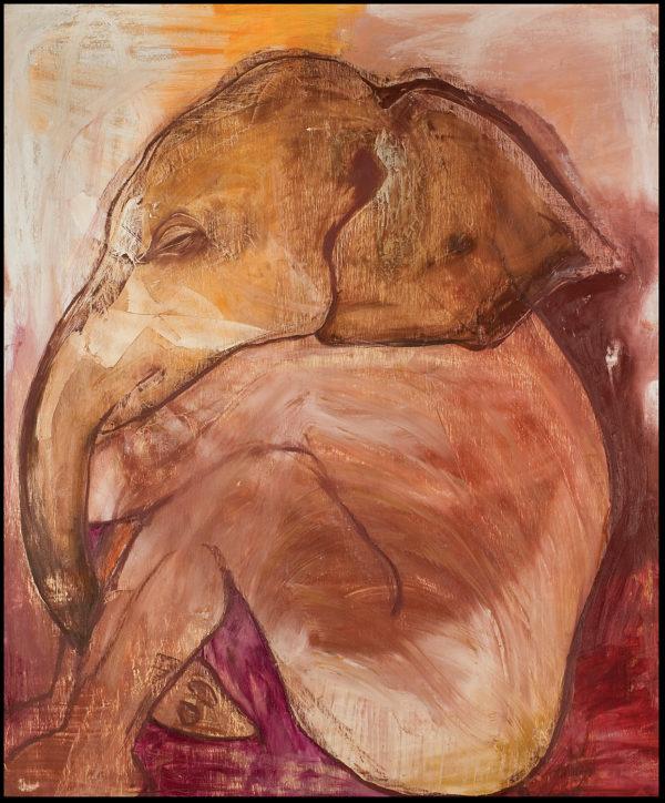 """""""Elephant Boy in Meditation"""""""