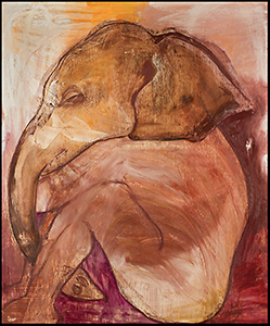 Kim Goldfarb Elephant Boy in Meditation