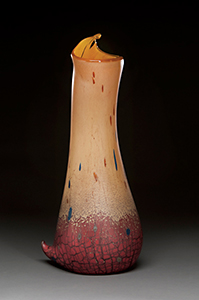 Peter Wright Glass P 11 11 Tobacco Red Pitcher