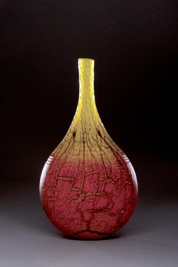 """""""Red Yellow Battuto Jar"""""""
