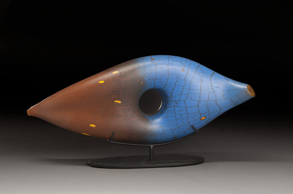 Peter Wright Glass S 11 01 Cinnamon Blue Seed