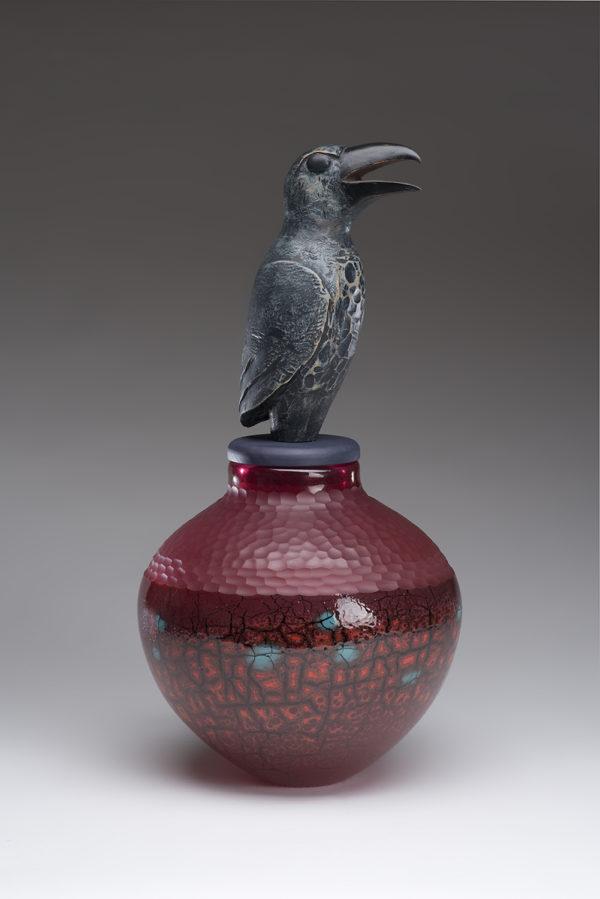 """""""Red Raven Spirit Jar"""""""