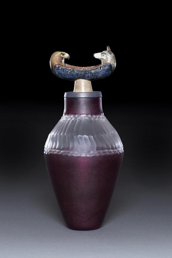 """Spirit Canoe Jar"""