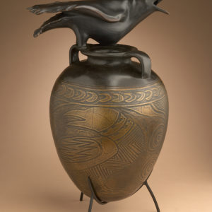 """Raven Jar with Incised Drawing"" 5 of 12"