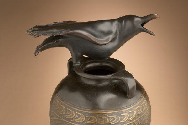 """""""Raven Jar with Incised Drawing"""" 5 of 12"""