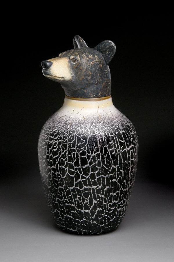 """Black Bear Spirit Jar"""