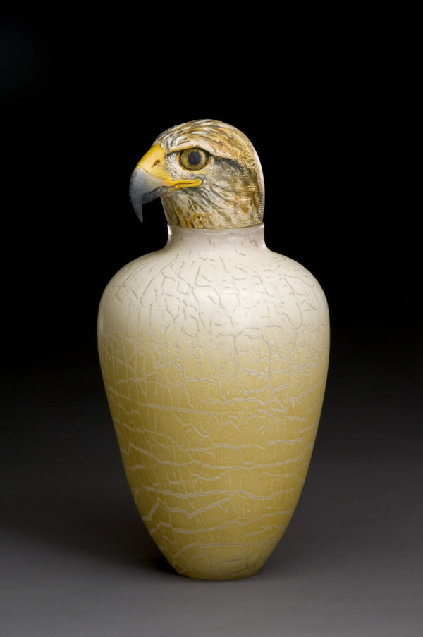 """Hawk Spirit Jar"""