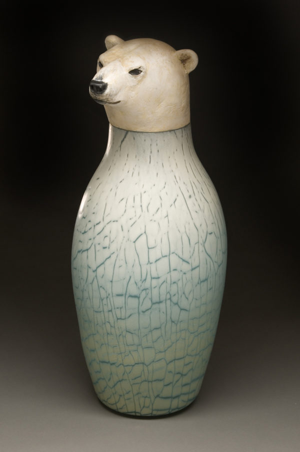 """Polar Bear Spirit Jar"""