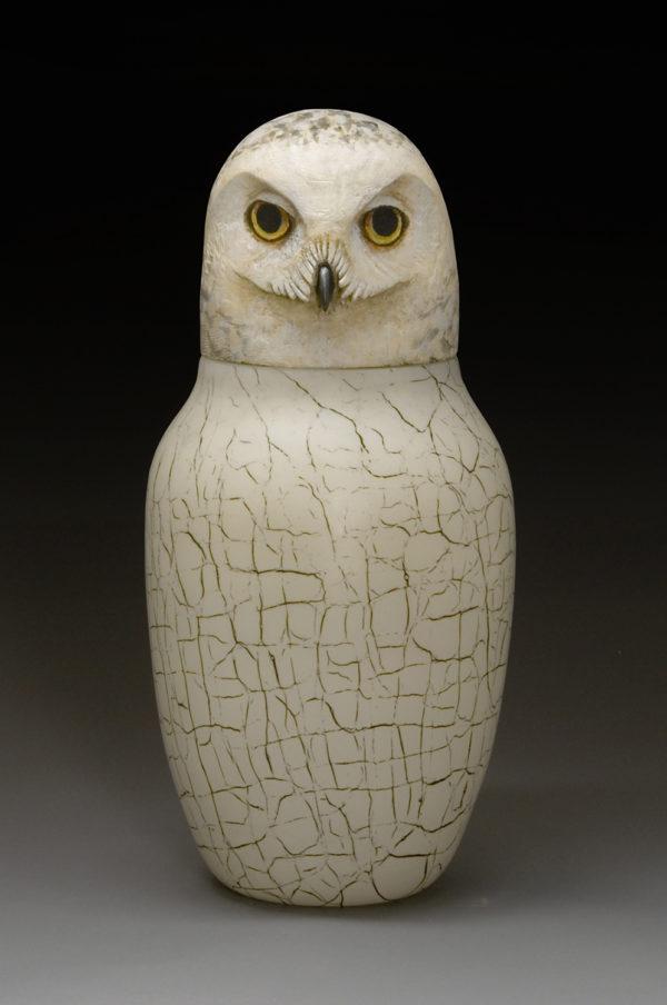 """Snowy Owl Spirit Jar"""